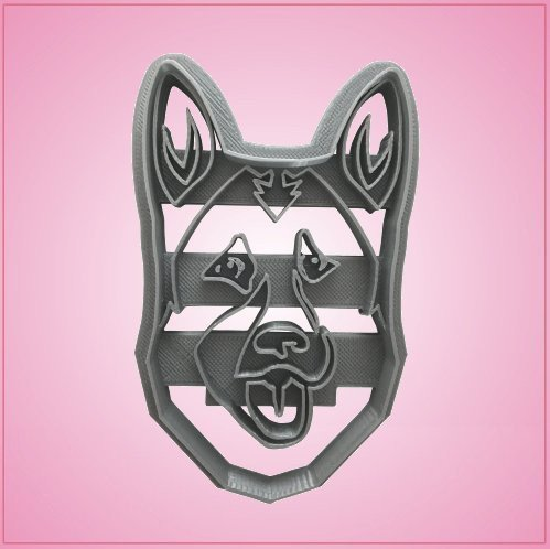 Embossed German Shepherd Cookie Cutter 3-1/2 inches tall, 3 inches wide
