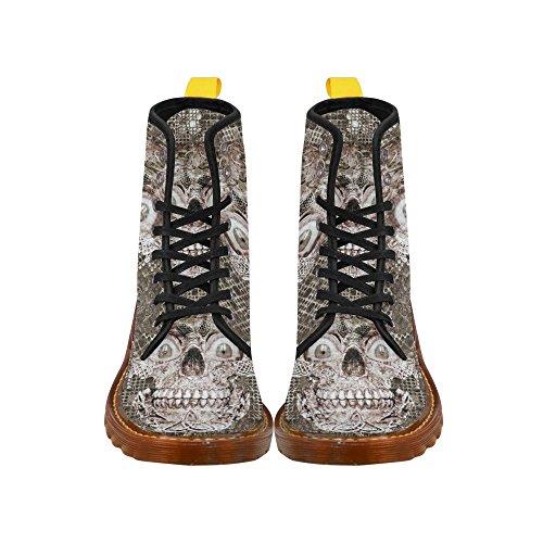Leinterest Stone E Metal Skull Martin Boots Moda Scarpe Da Uomo
