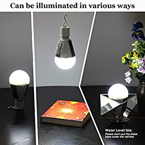 3 Pack Portable Solar Powered LED Lantern Tent Light Bulb Flyhoom Rechargeable Emergency Lamp for Outdoor Indoor Camping Reading Lighting, White