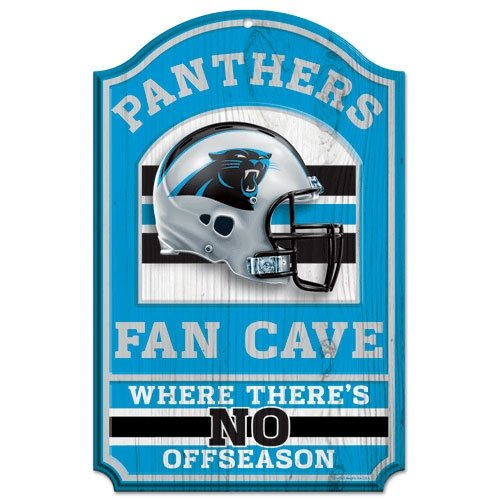 Carolina Panthers Wood Sign - 11''x17'' Fan Cave Design