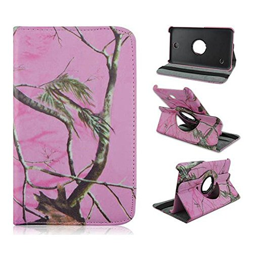 Samsung Galaxy Tab 4 7.0 SM-T230 T235 Case - Tsmine Premium 360 Degree Rotating PU Leather Case Camouflage Branch Straw Mossy Leaves For Samsung Galaxy Tab 4 7
