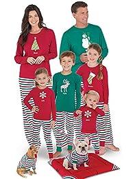 Holiday Stripe Matching Family Pajama Set, Red/Green