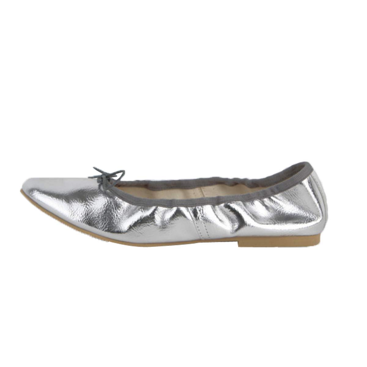 UfunUshime Bowtie Ballet Flats for Womens Round Toe Soft Dress Shoes