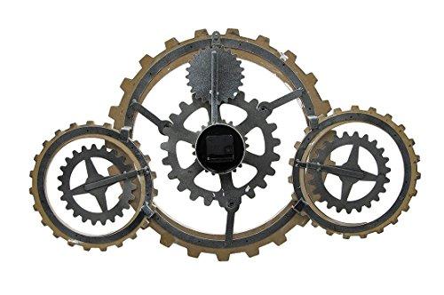 Things2Die4 Industrial Gears Wood and Metal Steampunk Style Wall Clock 5