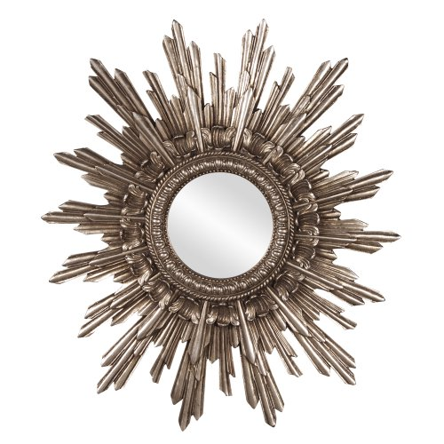 Howard Elliott  Chelsea Antique Starburst Mirror, Silver