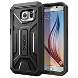 Galaxy S6 Case - Poetic [Revolution Series] - [Heavy Duty] [Dual Layer] Complete Protection Hybrid Case with Built-In Screen Protector for Samsung Galaxy S6 (2015) Black (3-Year Manufacturer Warranty From Poetic)
