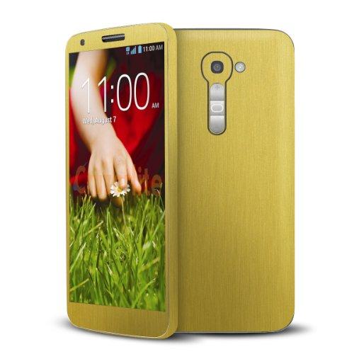 Cruzerlite Brushed Gold Metallic Skin Case for LG G2 Model VS980 - Retail Packaging