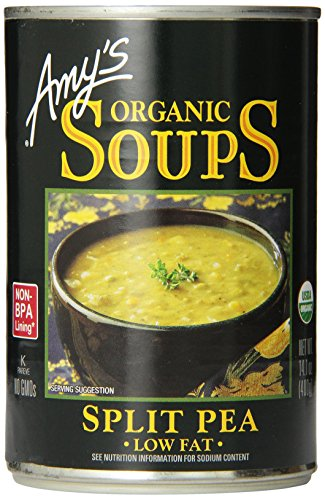 Amy's Organic Split Pea Soup, Low Fat, 14.1-Ounce, Pack of 12 (Best Vegetarian Split Pea Soup)
