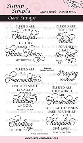 - Stamp Simply Clear Stamps Blessings and Beatitudes Two Christian Religious 4x6 Inch Sheet - 6 Pieces