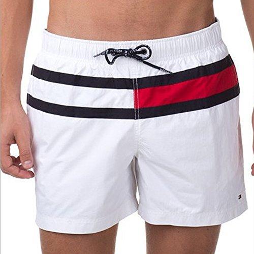 Deercon Herren Quick-dry Bademode Sport Short Strand Boardshorts (wei? 2XL)