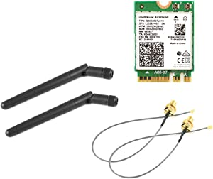 Intel AX200.NGWG.NV WiFi 6 and BT5 M.2 2230 A+E Key, Two 10 inch RP-SMA Cable and Antenna