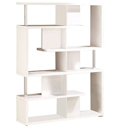 Modern office shelving Tiny Etagere Bookcase White Shelf Simple Minimal Functional Bookshelf Storage Sturdy Free Standing Single Floor Modern Office Living Room Display Shelving Unit Amazoncom Amazoncom Etagere Bookcase White Shelf Simple Minimal Functional