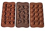 jelly at hippo - Poproo Animal Shaped Candy Mold 3-Piece Chocolate Molds Ice Cube Tray - Animal Heads, Figures, Pig Face (Set of 3)