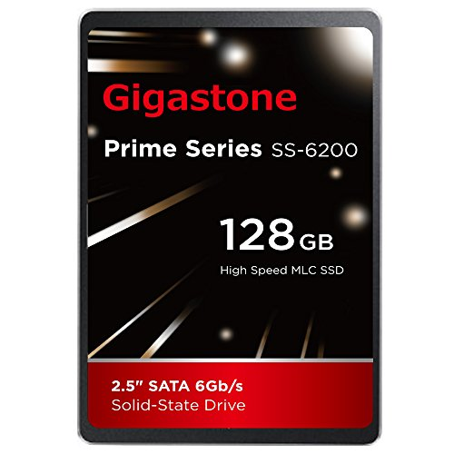 Gigastone 128GB SSD Intel MLC 2.5'' SATA 3 Solid State Drive [Performance HD Upgrade for HP Dell Samsung Sony Asus PC, Apple Mac Macbook, Laptop, Notebook Ultbook, Gaming, Video Editing, Server, Raid] by Gigastone