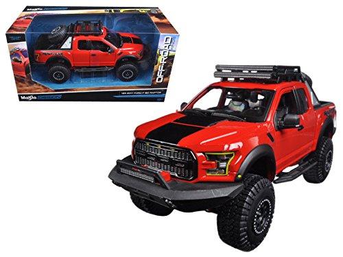 StarSun Depot 2017 Ford F-150 Raptor Pickup Truck Red Off Road Kings 1/24 Diecast Model Car Maisto