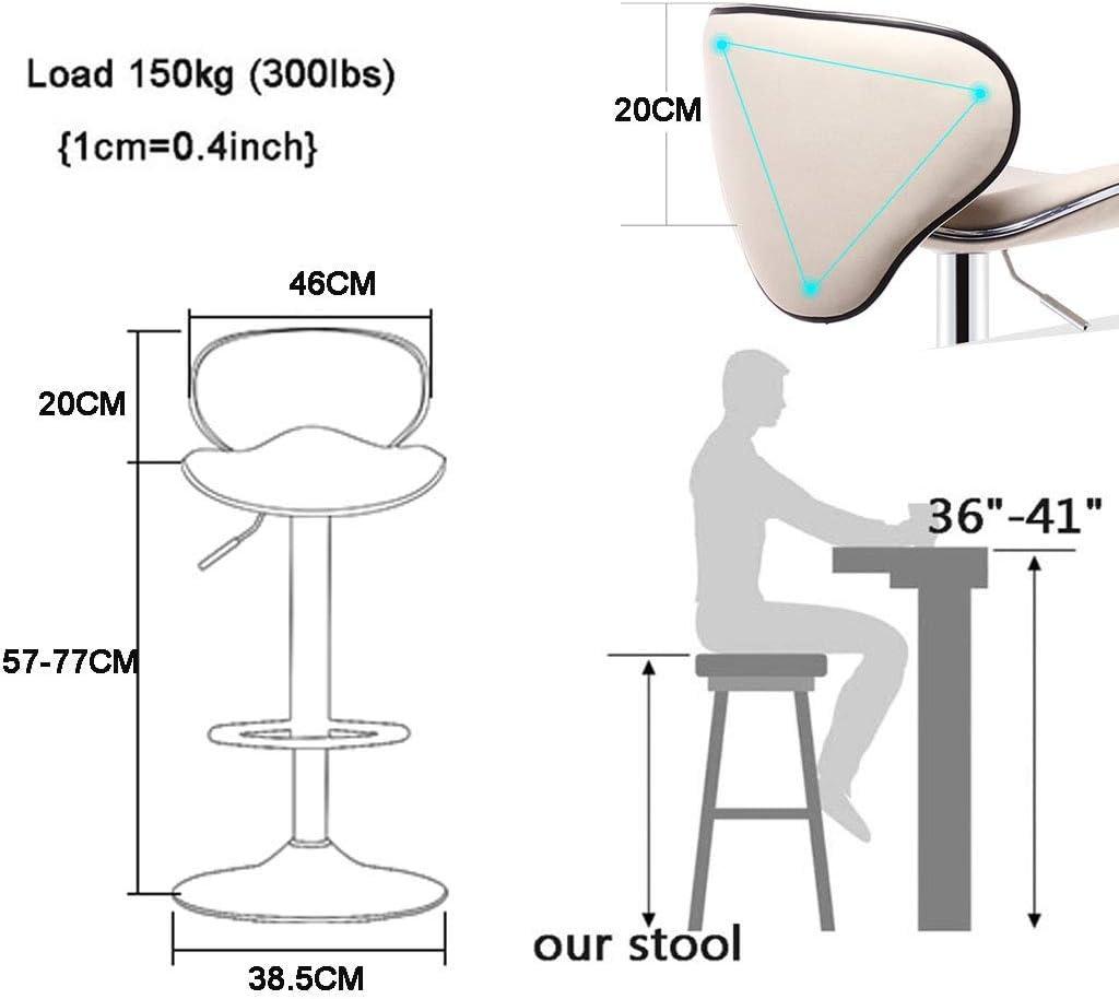AOLI Dining Room Chairs Bar Stool Adjustable Swivel Gas Lift Barstools, Pu Leather with Chrome Base,Dining Room Furniture - 350 Lbs Capacity, Gray,Orange Orange