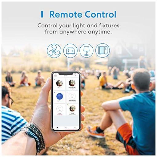 meross Enchufe Inteligente, Enchufe Exterior Impermeable App Control. Función de Temporizador. Compatible con Alexa, Google Home y SmartThings.