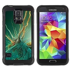 "Hypernova Defender Series TPU protection Cas Case Coque pour Samsung Galaxy S5 V [Macro bacterias""]"