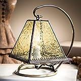 J Devlin Lam 683 Tiffany Stained Glass Mini Lamp Pale Flaxen Green Night Light Memory Lamp