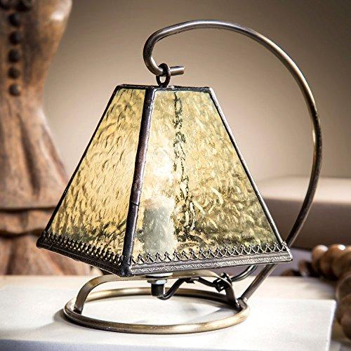 J Devlin Lam 683 Tiffany Stained Glass Mini Lamp Pale Green Night Light Memory Lite Accent Light