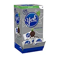 Caramelo de menta cubierto de chocolate oscuro York Peppermint Patties, 175 piezas, 5.25 libras
