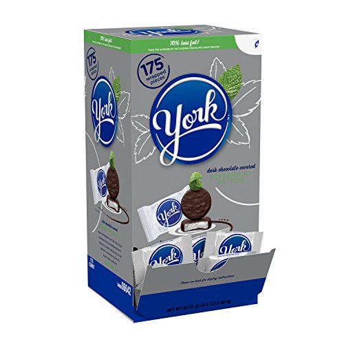 YORK Peppermint Patties Dark Chocolate Covered Mint Candy, Halloween Candy, 175 Count