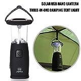 Teepao Hand-cranked Portable LED Camping Lantern Flashlights,USB Charging Solar Waterproof Flashlight Hiking Light,Survival Kit For Emergency, Hurricane, Outage