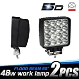 LEMIL - 48W 5D Lens LED Work Light 12V Flood