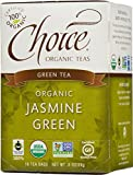 Choice Organic Teas Green Tea, Jasmine Green, 16 Count, Pack of 6