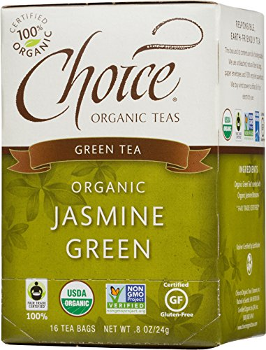 (Choice Organic Teas Green Tea, 16 Tea Bags, Jasmine Green)