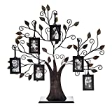 Philip Whitney Metal Family Tree Picture Frame with 6 Hanging Picture Photo Frames