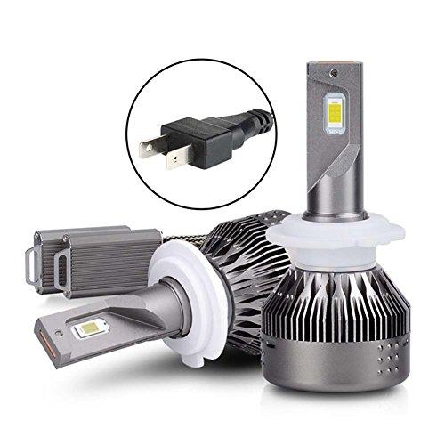 H7 LED Headlight Kits NAO Hi/Lo Beam/Fog Light Bulbs LED Headlight Bulbs  72W 7600LM 6500K/White LED Headlight Conversion Kit