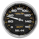 Auto Meter 4889 Carbon Fiber In-Dash Electric Speedometer