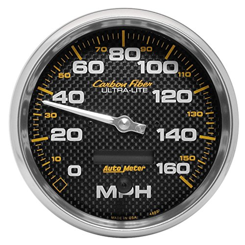 Fiber Water Mechanical Carbon (Auto Meter 4889 Carbon Fiber In-Dash Electric Speedometer)