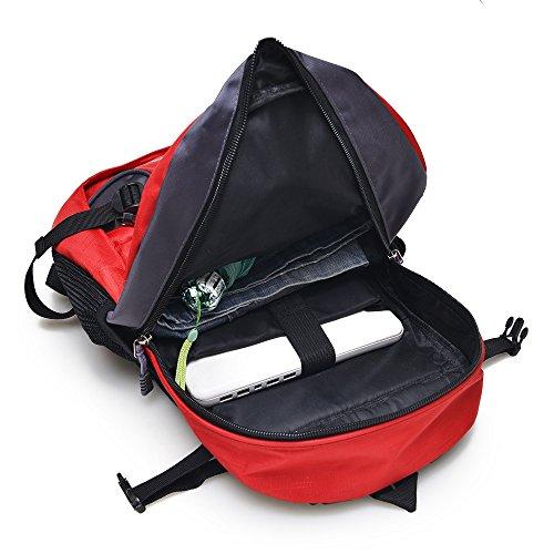 Mountaineering Bag Outdoor Männer und Frauen Schulter Rucksack große Kapazität Wanderpackage wasserdichte Bergsteigen Taschen , grün