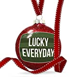 Christmas Decoration Lucky Everyday St. Patrick's Day Dark Green Stripes Ornament