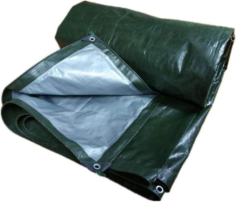 Lona Impermeable Resistente A La Intemperie - Paño A Prueba De Lluvia Franja De Color Paño De Protección Solar Lona De Lona Sombrilla Al Aire Libre Protector Solar Sombrilla Tela De Lluvia Verde 180 G