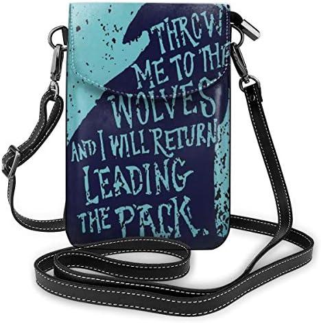 Throw Me To The Wolves - Bolso bandolera de piel para ...