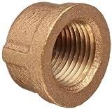 Merit Brass Brass Pipe Fitting, Class 125, Cap, 1/2'' National Pipe Taper Thread Female (Pack of 25)