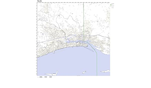 Amazon Com Biloxi Ms Zip Code Map Laminated Home Kitchen