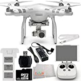 DJI Phantom 3 Advanced Quadcopter Drone with 1080p HD Video Camera EVERYTHING YOU NEED Kit. Includes 32GB microSD Memory Card + High Speed Memory Card Reader + Remote Transmitter Lanyard + Microfiber Cleaning Cloth