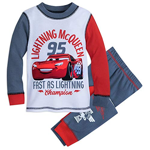 Disney Lightning McQueen Pajama Set for Kids - Cars Size 5 Multi -