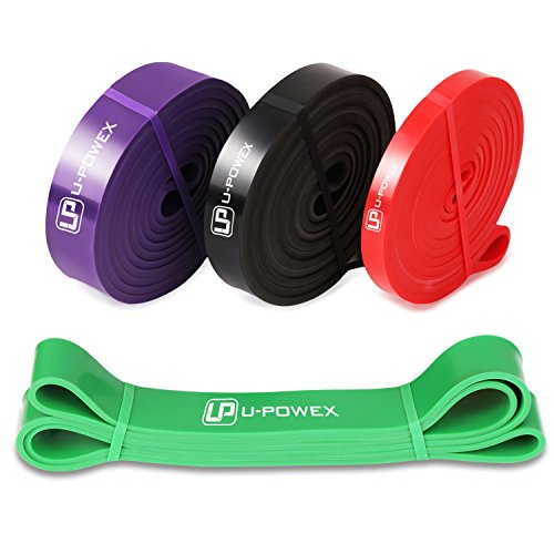 U-POWEX Pull Up Assist Bands Exercise Resistance Bands Mobility Powerlifting Bands Set of 4