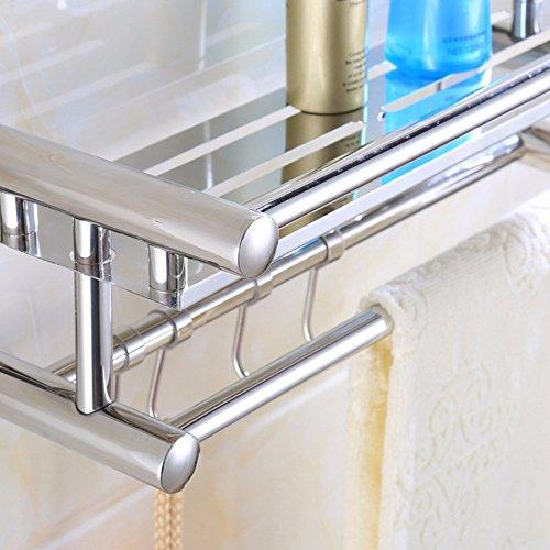 low-cost KHSKX 40CM bathroom Towel rack stainless steel shelf bathroom hanging small towel rack