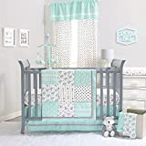 Mint Green Southwest Patchwork 3 Piece Crib Bedding Set by The Peanut Shell