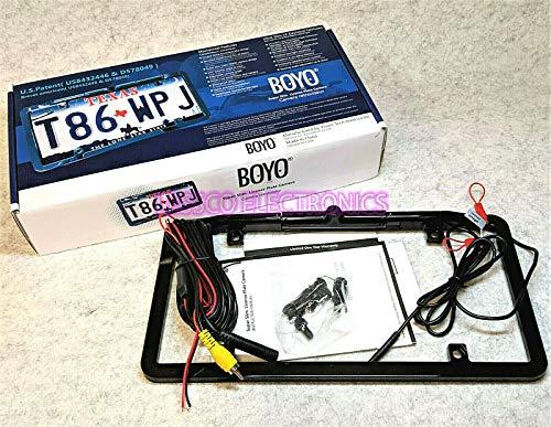 BOYO Ultra Slim Waterproof Full Frame License Plate Camera w/Trajectory Lines