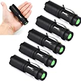 LandFox 2000Lm 5 Pcs Mini CREE Q5 7W LED Flashlight Torch Lamp Zoom Light