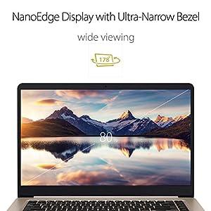 ASUS S510UQ-EB76 VivoBook S Full HD Laptop, 15.6, Intel Core i7-7500U, NVIDIA GeForce 940MX, 8GB RAM, 256GB SSD + 1TB HDD, Windows 10, narrow bezel design, backlit keyboard