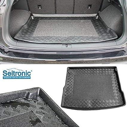 Premium Kofferraumwanne Laderaumwanne Kofferraummatte Mit Antirutsch Fläche In Grau Aus Flexiblem Kunststoffmaterial Und Abwaschbarer Oberfläche Auto