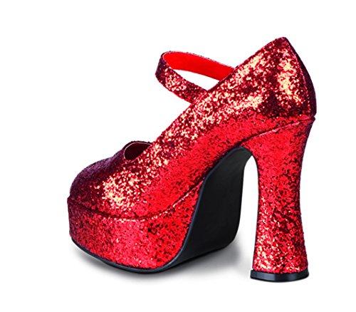 Chaussures disco rouges pailletées femme - Pointure 38